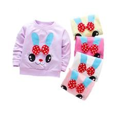 Футболка для маленьких девочек хлопковые повседневные топы с длинными рукавами для маленьких девочек, рубашка для новорожденных весенне-осенняя футболка одежда для маленьких девочек на первый день рождения