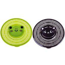 Пластиковые фильтры для раковины с изображением медведя из мультфильма кухонные напольные сливы для ванной душ установка для переработки отходов коландеры для волос канализационный фильтр диаметром 12 см