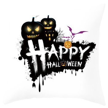 Happy Halloween Sofa Pillowcase Car Back Cushion Ghost Witch Pumpkin Phamton Bolster Cushion Cover Skull Pillow Case Home Decor image