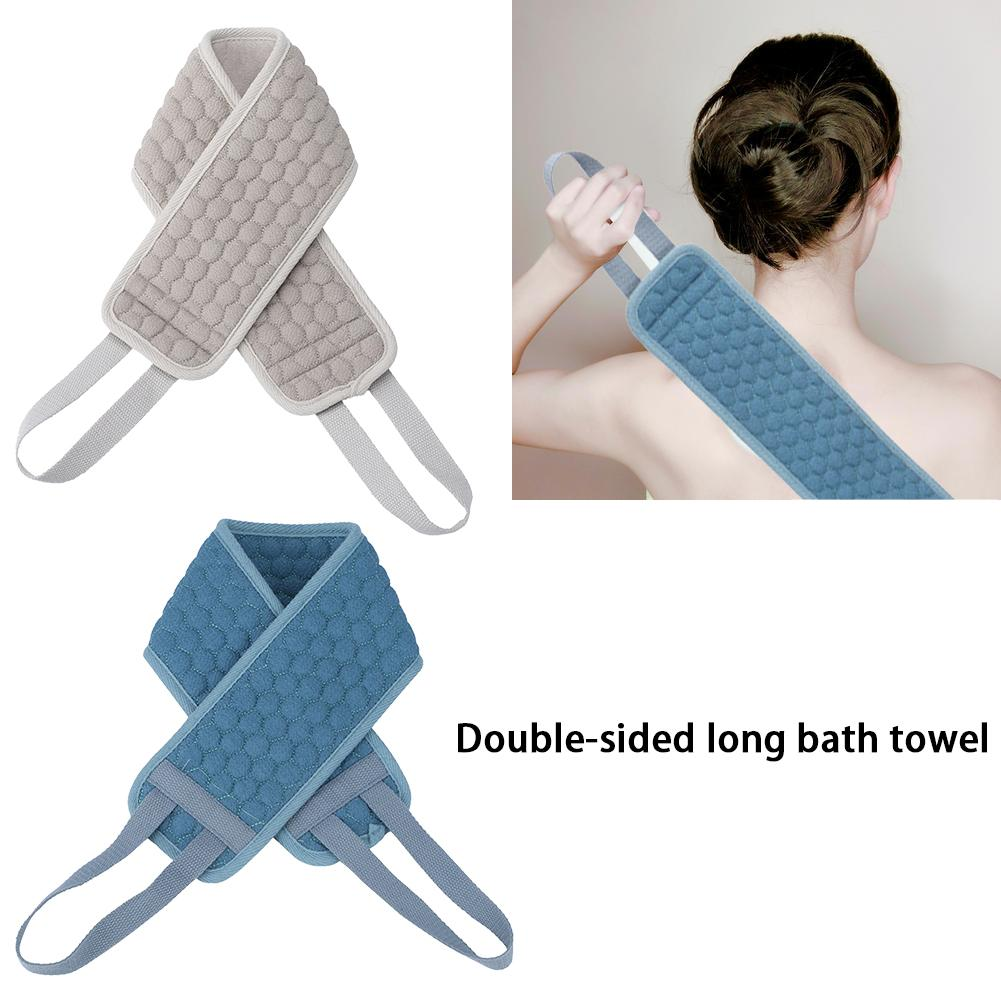 Exfoliating Back Scrubber Double-Sided Long Bath Towel Shower Loofah