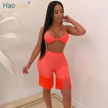 ZOOEFFBB Sexy Club Outfits 2 Piece Set Women Summer Rave Festival Clothing Crop