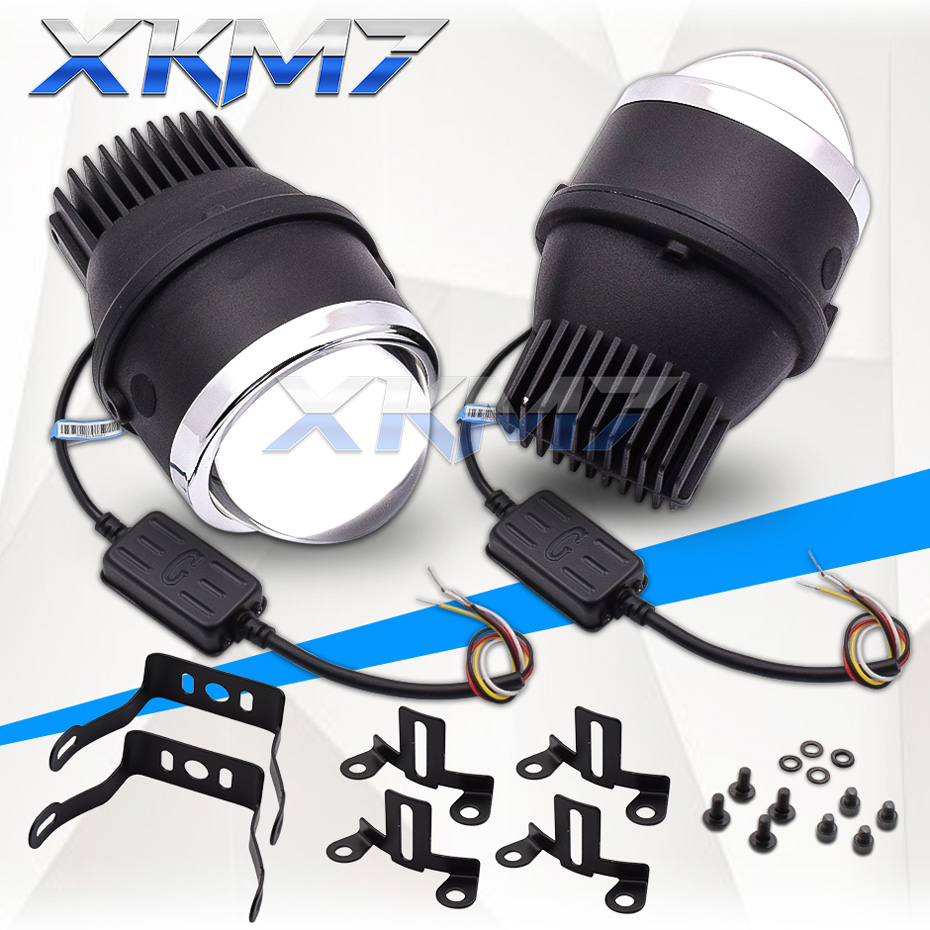 XKM7 LED Projector Bi-led Fog Lights 3.0 Waterproof Spot Lights Universal Lenses Tuning Diode Lamp Automobiles Cars Accessories