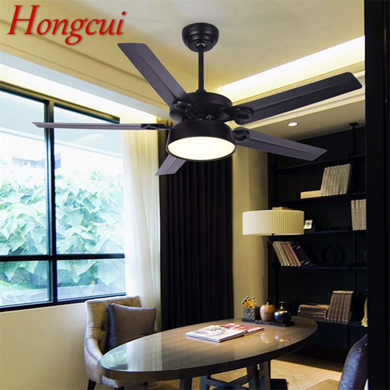 Dashing Hongcui Modern Ceiling Fans With Lights Kit Remote Control 3 Colors Led Modern Home Decorative For Rooms Dining Room Bedroom Strengthening Waist And Sinews