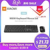 Xiaomi Original Miiiw teclado Bluetooth 104 teclas 2,4 GHz inalámbrico doble modelo teclado portátil ratón Set para Windows Mac