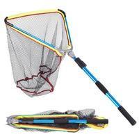 200cm / 79 Inch Fishing Net Telescopic Aluminum Fishing Landing Net Fish Net with Extending Telescoping Pole Handle