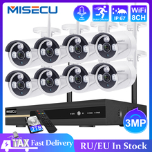 Ai-Camera-Set Audio-Record Video-Surveillance-Kit MISECU Wifi Waterproof 3mp Cctv Wireless-System