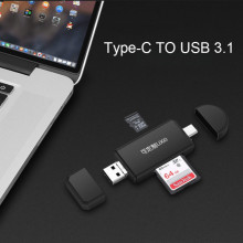 Type C & Micro USB & USB 3 In 1 OTG Card Reader High speed USB2.0 Universal OTG TF/SD for Android Computer Extension Headers