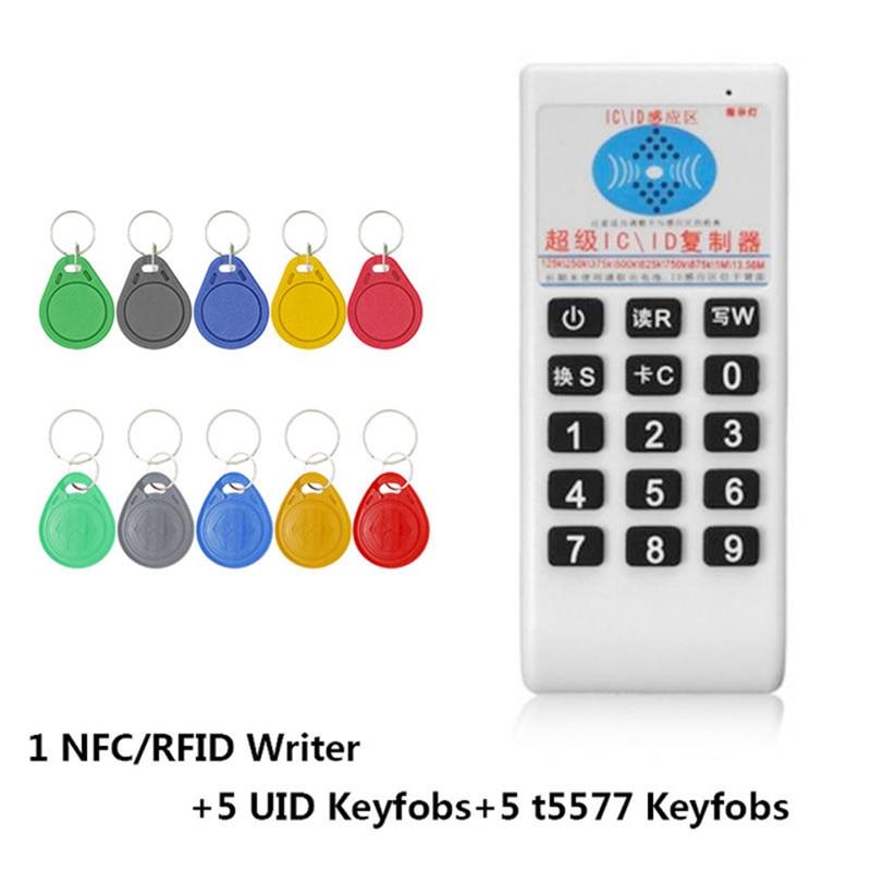 RFID ручной 125 кГц до 13,56 МГц Копир Дубликатор Cloner RFID NFC ID/IC кард-ридер и писатель карточки на костюм