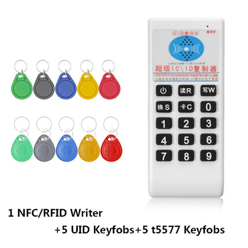 RFID ручной 125 кГц-13,56 МГц Копир Дубликатор Cloner RFID NFC ID/IC считыватель карт и писатель карточки на костюм