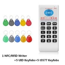 RFID Handheld 125Khzถึง 13.56MHZเครื่องถ่ายเอกสารDuplicator Cloner RFID NFC ID/IC Card Reader & Writerการ์ดชุด