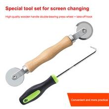 Hand Tools Screen Window Spline Roller Rubber Strip Hook Gauze Wheel Home Window Installation Supplies Screen Rolling Tool