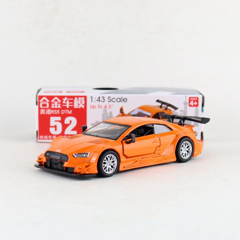 1:43 Scale Audi RS5 DTM Alloy Pull-back Car Diecast Metal Model Car For Collection Friend Children Gift