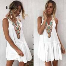 Женское Короткое мини платье в стиле бохо; Летние вечерние платья;