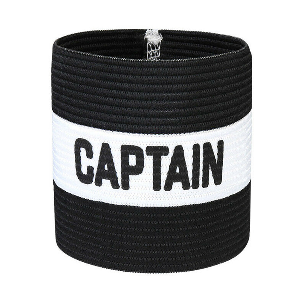 Leader Elastic Sports Accessories Captain Armband Symbol Football Rugby Hockey Outdoor Playground Strong Stickiness Sleeve Badge