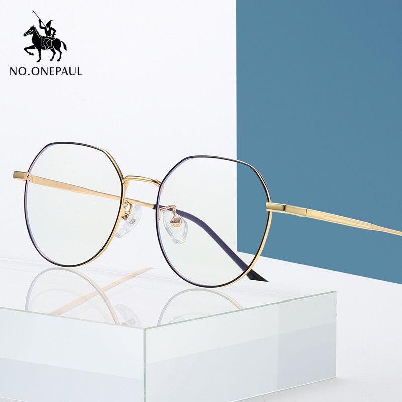 NO.ONEPAUL Glasses Men Square Computer Eyeglasses Frame Protection Blue Light Blocking Unisex Eyewear Women Anti Blue Rays