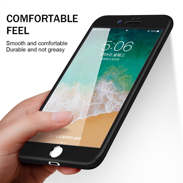 360 Full Cover Case For iPhone SE 2020 11 Pro Max Protective Cover For iPhone 11 XS Max XR X 8 7 6S 6 Plus 5 5S Cover With Glass 2