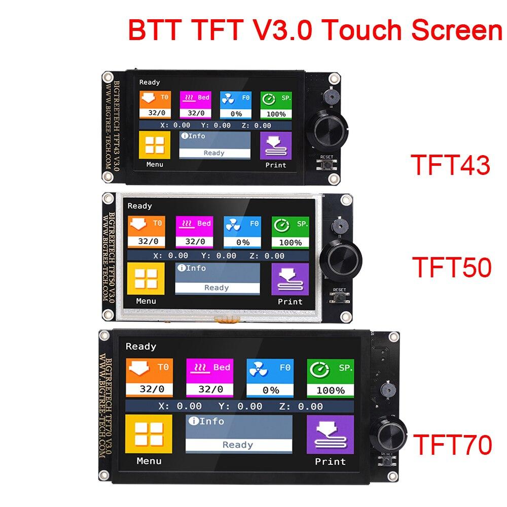 BIGTREETECH TFT43 TFT50 TFT70 V3.0 Touch Screen Display WIFI Peças de Impressora 3D 12864LCD TFT35 E3 Para Ender 3/5 SKR V1.4 MINI E3