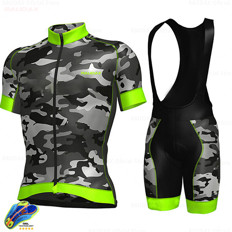 Raudax Cycling Jersey 2020 Pro Team Bike Kit MTB Cycling Clothing Men Mountain Bike Wear Clothes Maillot Ropa Ciclismo Triathlon
