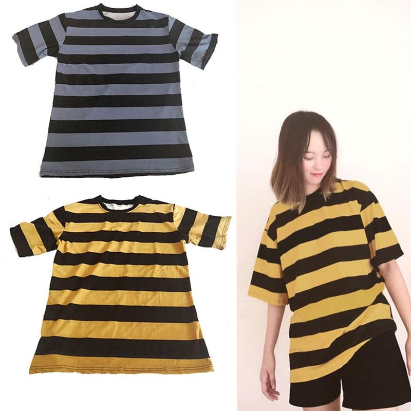 O-neck T Shirt Woman Striped Tops Short Sleeve Summer Shirt Casual Female T-shirts Tops Basic Tshirt for Women Tee feminina32 (1)