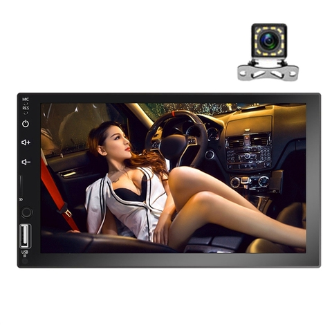 7 polegada universal carro multimidia player 2din carro estereo jogador de radio autoradio mirrorlink audio