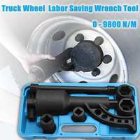 Audew 7PCS Torque Multiplier Wrench Lug Nut Lugnuts Remover Labor Saving Socket Car Wash Maintenance Engine Care Tire Tools Kit