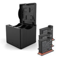 QC Быстрая зарядка чехол для аккумулятора с одним сопротивлением три зарядное устройство тип зарядки коробка для DJI OSMO ACTION Sports camera литиевая б...
