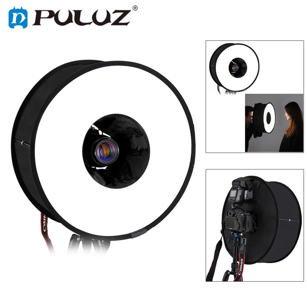 PULUZ 45cm Round Softbox Macro & Portrait Shooting Speedlight Soft Box Foldable Soft Flash Light Diffuser For Photo Studio
