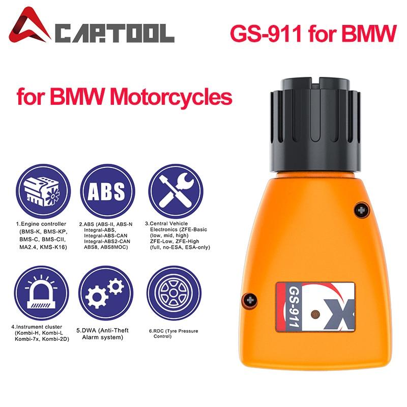 Профессиональный анализатор двигателя GS-911 V1006.3 GS911 аварийный диагностический инструмент для BMW Мотоциклы GS911