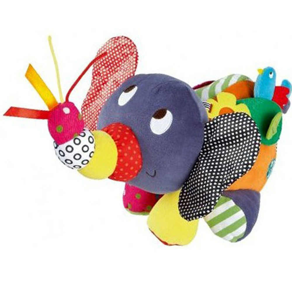 Educational Toys For Baby 0-12 Month Cartoon Plush Elephant Baby Rattles Brinquedos Para Bebe Oyuncak Baby Toys 13-24 Months