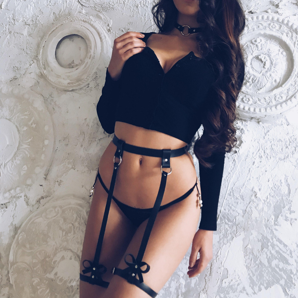 Sex Toys For Woman Leather Leg Garter Body Strap Harness Belts Erotic Lingerie Bdsm Bondage Bridal Garters Erotic Accessories