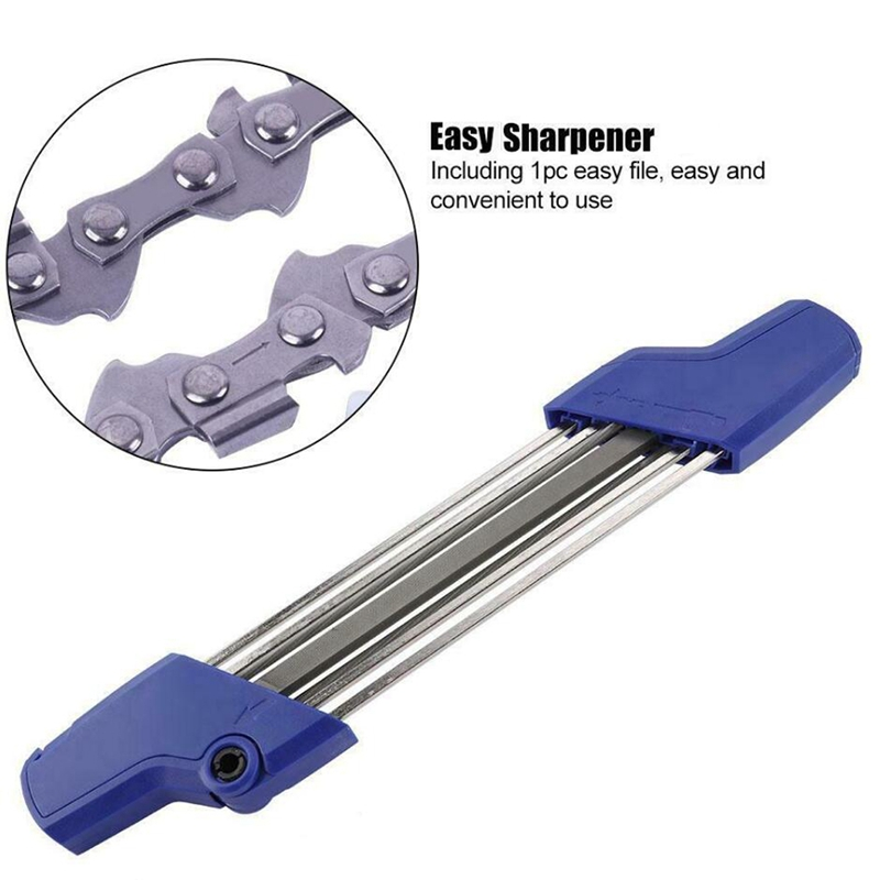 Blue 2 IN 1 7/32 5.5mm Chainsaw Chain Quick File Saw Sharpening Sharpener Chain Kit Accessory For Stihl 3/8p .404 Inch Tool