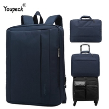 맥북 에어 프로 17.3, 15.6 인치 노트북 배낭 남자 여행 수하물 가방 서류 가방 어깨 메신저 가방에 대한 대형 노트북 가방