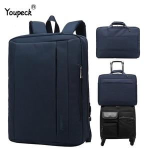 Image 1 - Large Laptop Bag For Macbook Air Pro 17.3,15.6 inch Laptop Backpack Men Travel Luggage Bag Briefcase Shoulder Messenger Bags