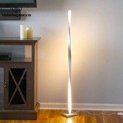 Moderne LED Boden Lampe Nordic Aluminium Büro Dekorative Boden Lichter Stehend Lampen für Wohnzimmer Chrom Holz Boden Licht