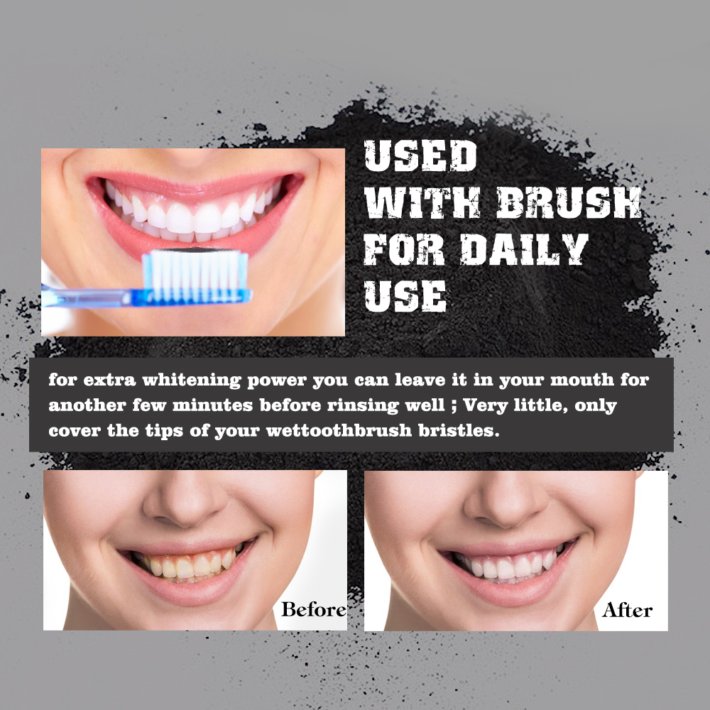 Lip - Tooth Care Natural Activated Charcoal Teeth Whitening Powder Toothpaste Oral Hygiene Dental