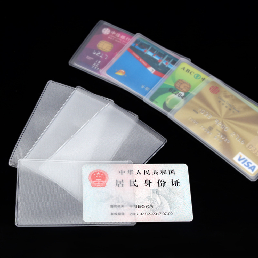 5PC Waterproof Transparent Pvc Card Cover Silicone Plastic Cardholder Case Protect Cards Student Cardholder Bit Bank Id Card