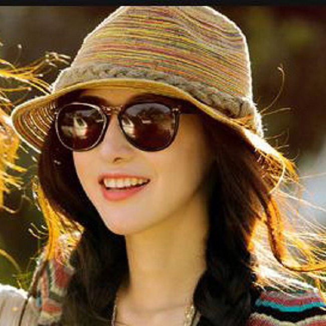 GAOKE New Fashion Colorful Summer Sun Hats Beach Straw Casual Breathable Fedora Travel Bohemia Trilby Hat