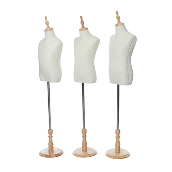 Well-crafted Linen Cloth Dress Cloth Mannequin Demountable Support Child Mannequin Model Stand for Tailors Garment Display 3Size