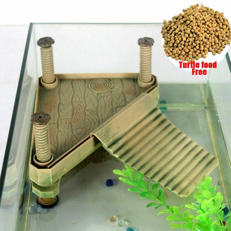 Turtle Reptile Pet Floating Island Frog Aquatic Climbing Basking Platform Decor Aquarium Tank Accessory