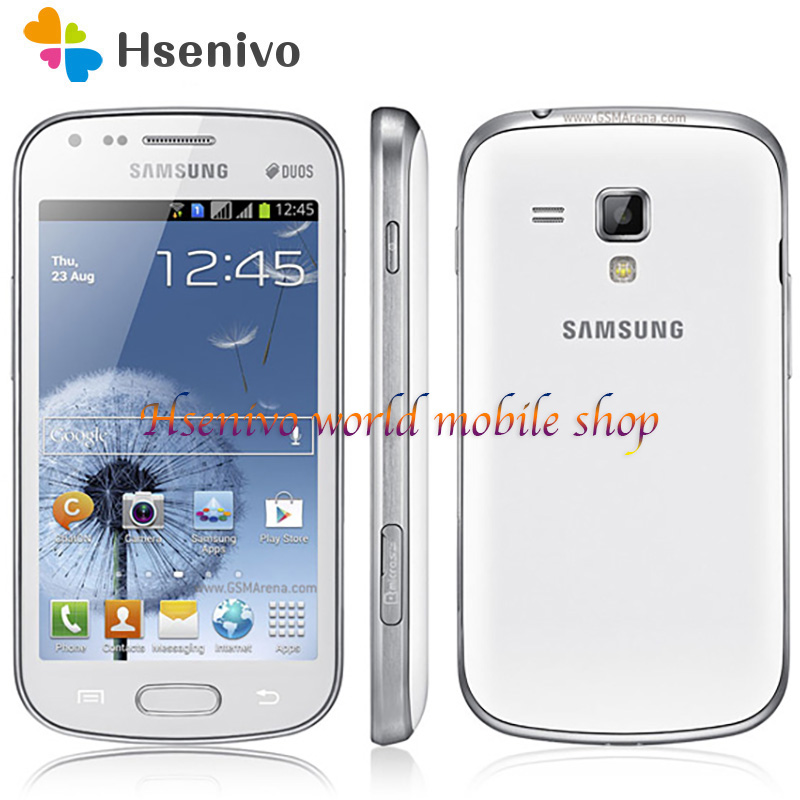 Samsung Galaxy S Duos S7562 1500mAh 5MP 4.0' 3G GSM/WCDMA Dual SIM Card Cellphone Free Shipping