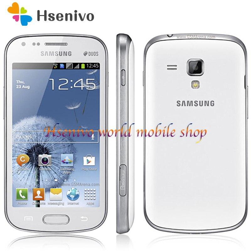Samsung Galaxy S Duos S7562 1500mAh 5MP 4.0' 3G GSM/WCDMA Dual SIM Card Cellphone Free Shipping