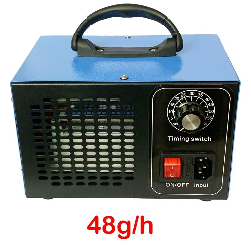 48 g/h gerador de ozônio máquina ozono esterilizar ar purificador mais limpo desinfecção esterilização remover odor o3 ozonizador