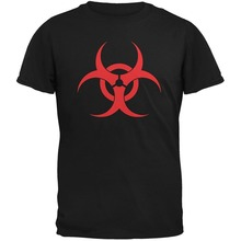 2019 Summer Casual Man T Shirt Zombie Biohazard Symbol T-Shirt Style Clothing