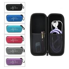 New EVA Travel Portable Medical Stethoscope Storage Box Mesh Pockets Case for 3M Littmann Cardiology III Stethoscope Carry Bag