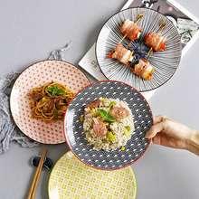 Простая Бытовая круглая неглубокая тарелка в японском стиле
