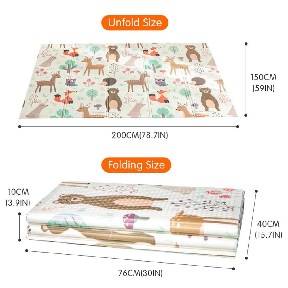 Dessin animé bébé jouer tapis motif infantile ramper Pad tapis pliant XPE Puzzle enfants tapis bébé literie jouet pour enfants tapis tapis de jeu - 5