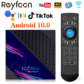 H96 Mini V8 Smart TV Box Android 10 2GB RAM 16GB ROM Support 1080p 4K 60fps Google Play Youtube H96Mini Media Player PK H96 MAX image