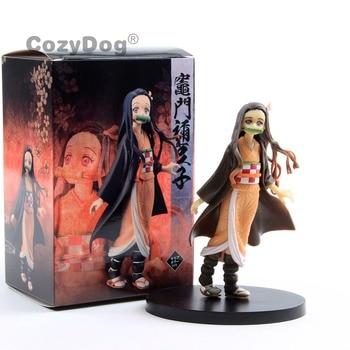 16 cm Japan Anime Demon Slayer Kamado Nezuko Figure Toys New Arrivals Cartoon Collectible Model Doll Women Kids Birthday Gift фото