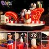 Personalized 5.5x5x4 meters PVC christmas inflatables penguins / penguin inflatable / inflatable penguin christmas toys