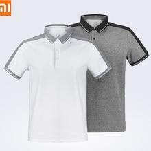 Xiaomi модные хлопковые рубашки мужской функция шить короткий рукав Футболка Поло для мужчин, Повседневное; воздухопроницаемая и благоприятная для кожи; верхняя одежда